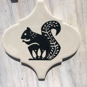 New Kitchen Gift Trivet Woodland Rustic Squirrel